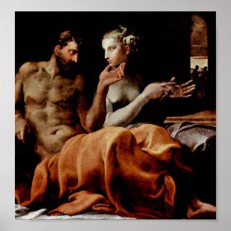 Francesco Primaticcio - Odiseo y Penélope Poster