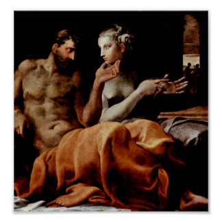 Francesco Primaticcio - Odysseus and Penelope Poster
