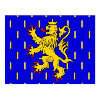 Franche Comte flag Postcard