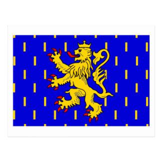 Franche-Comté flag Postcard
