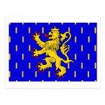 Franche-Comté flag Postcards