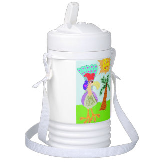 Franchetta el pájaro de Boobalong Refrigerador De Bebida Igloo