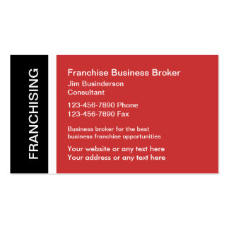 Franchise Business Broker Business Cards