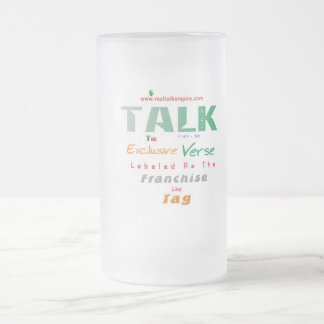 franchise - glass frosted glass beer mug