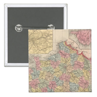 Francia 10 pin cuadrada 5 cm