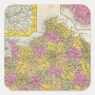 Francia 42 pegatina cuadrada