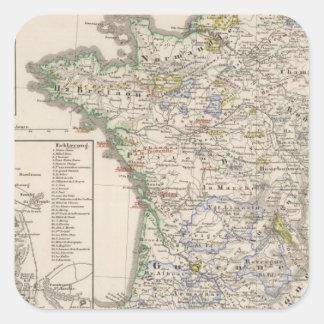 Francia a partir de 1461 a 1610 pegatina cuadrada