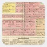 Francia a partir de 1589 a 1793 calcomanías cuadradass personalizadas