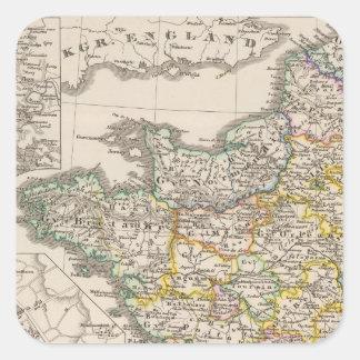 Francia a partir de 1610 a 1790 pegatina cuadrada