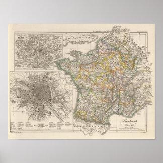 Francia a partir de 1610 a 1790 póster