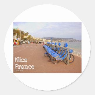 Francia agradable #1 pegatina redonda