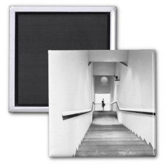 Francia agradable, museo de la escalera del arte m imán cuadrado