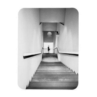Francia agradable, museo de la escalera del arte m imanes rectangulares