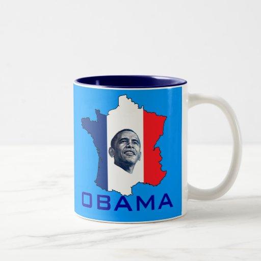 Francia ama a Obama Taza De Café