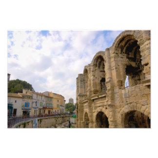 Francia Arles Provence amphitheatre romano Fotografia
