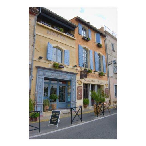 Francia, Arles, Provence, hotel y restaurante Fotografías