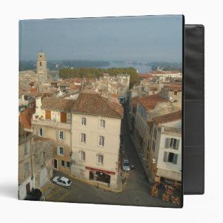 """Francia, Arles, Provence, opinión de la ciudad de Carpeta 1 1/2"""""""