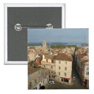 Francia, Arles, Provence, opinión de la ciudad de Pin Cuadrado