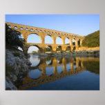 Francia, Aviñón. El acueducto romano de Pont du Ga Póster