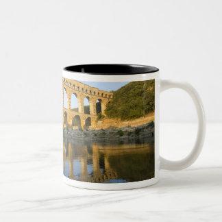 Francia, Aviñón. El acueducto romano de Pont du Taza De Café De Dos Colores