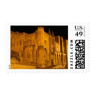Francia, Aviñón, Provence, palacio papal en la Sellos Postales