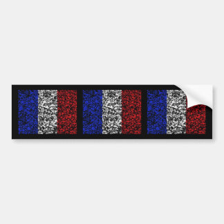 Francia - bandera pegatina de parachoque