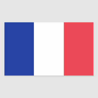 Francia/bandera francesa pegatina rectangular