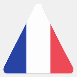Francia - bandera nacional francesa pegatina triangular