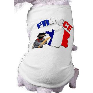 Francia - barro amasado con la camiseta del perro  camisetas mascota