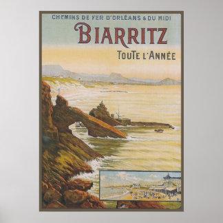 Francia Biarritz Póster