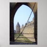 Francia - Carcasona - puente de la entrada Póster