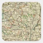 Francia con los límites resumidos pegatina cuadrada