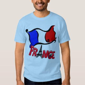 Francia con los productos de la bandera camisas