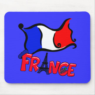 Francia con los productos de la bandera tapete de raton