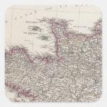 Francia, cuatro hojas, hoja 1 pegatina cuadrada