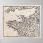 Francia, cuatro hojas, hoja 1 póster