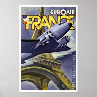 ~ Francia de Euroair Poster