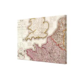 Francia del noroeste lienzo envuelto para galerías