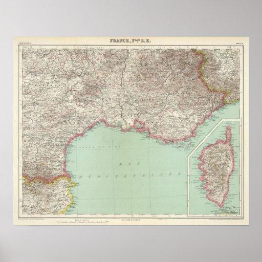 Francia del sudeste póster
