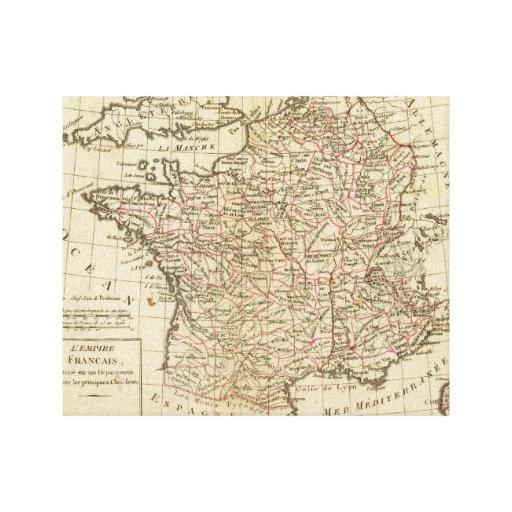 Francia, departemens lienzo envuelto para galerias