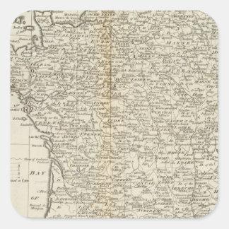 Francia dividió en círculos y departamentos colcomanias cuadradases