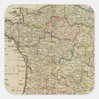Francia dividió en los círculos y los departamento pegatinas