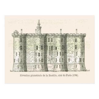 Francia, el Bastille en 1789 Postal