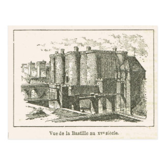 Francia, el Bastille en el siglo XV Tarjeta Postal