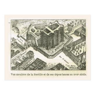 Francia, el Bastille en el siglo XVII Tarjeta Postal