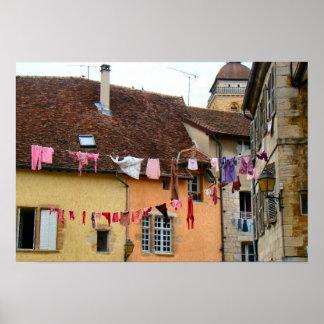 Francia, el Jura, Arbois, ciudad vieja Posters