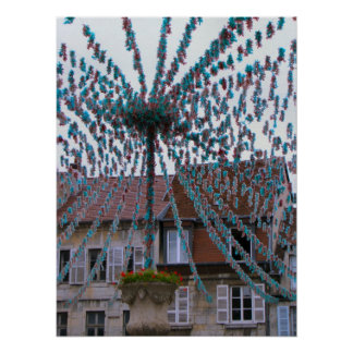 Francia, el Jura, Arbois, decoraciones del festiva Posters