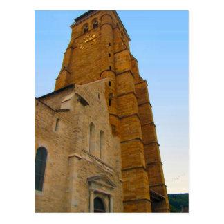 Francia, el Jura, Arbois; Iglesia por el castillo  Postal
