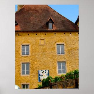 Francia, el Jura, Arbois, pared del castillo franc Impresiones