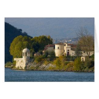 Francia, el río Rhone, ciudad cerca de Vienne 2 Tarjeta De Felicitación